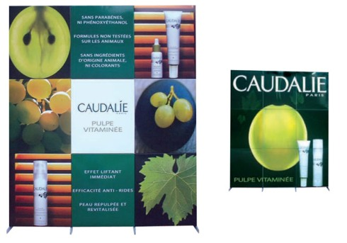 Caudalie Display, Greening Beauty
